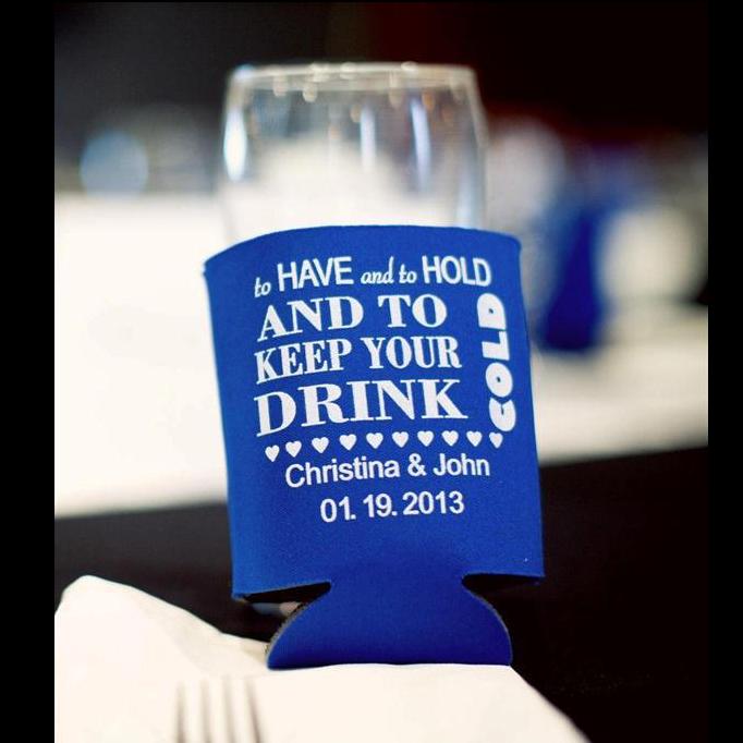 Custom drink koozies