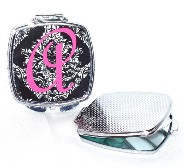 Damask initial compact mirror