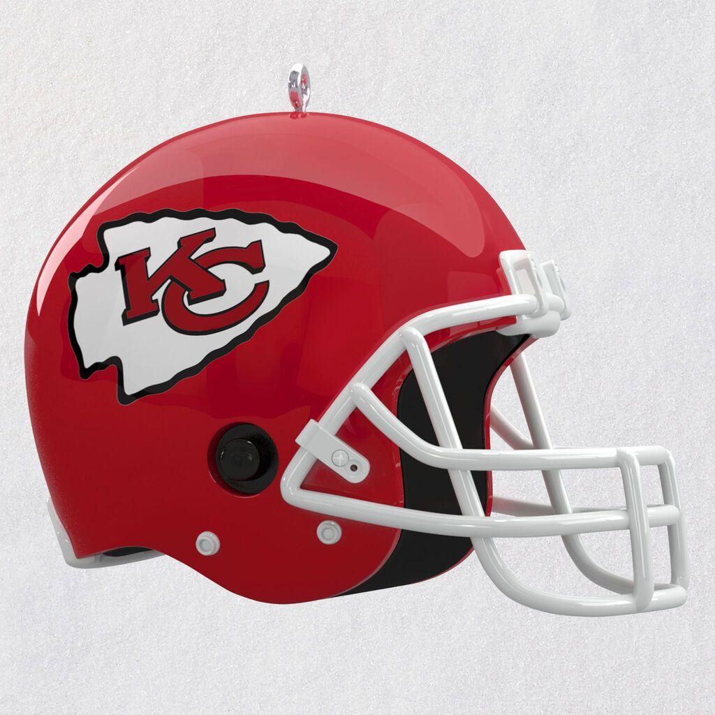 Nfl Kansas City Chiefs Helmet Ornament With Sound Available October 3 2020 Feeney S Hallmark Shop
