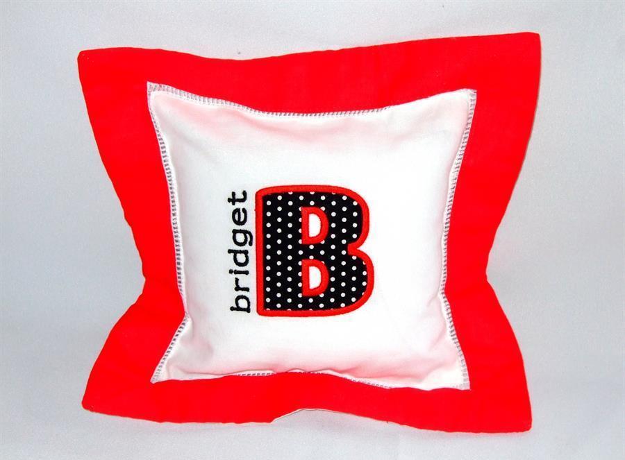 personalized applique monogram pillow