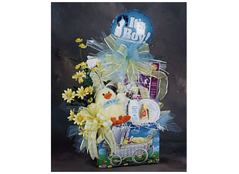 Baby gift baskets gifts to treasure inc its a boy baby gift box negle Choice Image