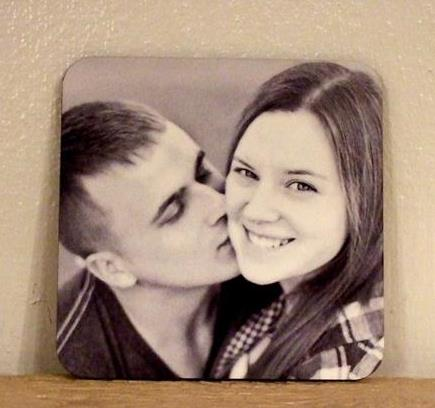 Personalized photo coaster