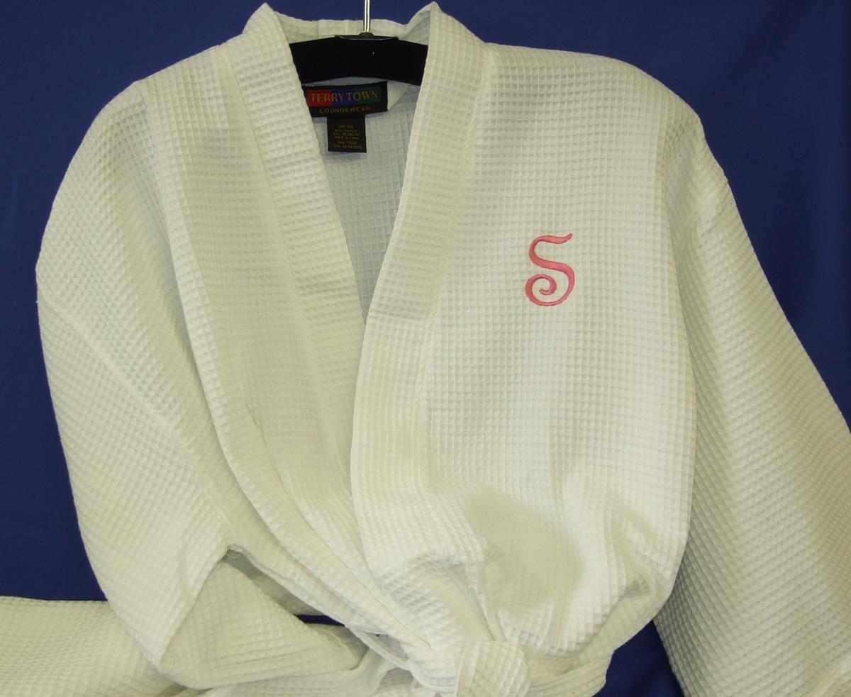 Monogrammed robe