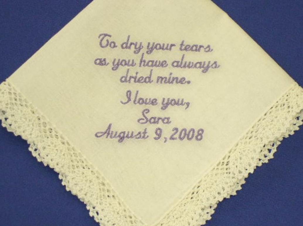 Personalized handkerchief