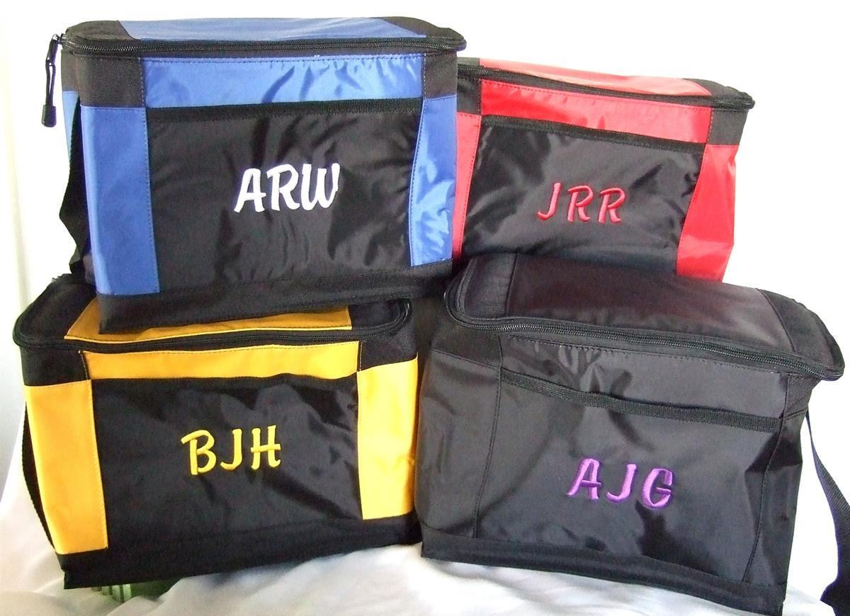 12 pack cooler with monogram