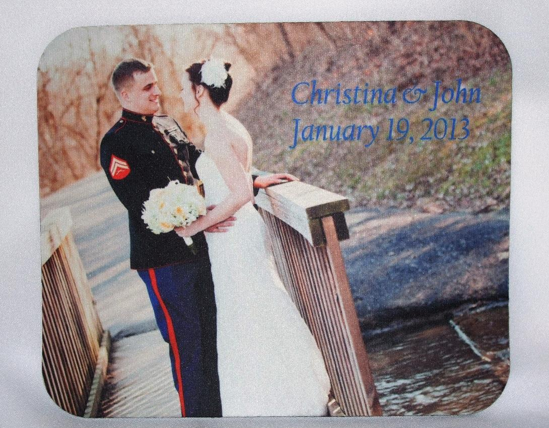 wedding picture mouse pad