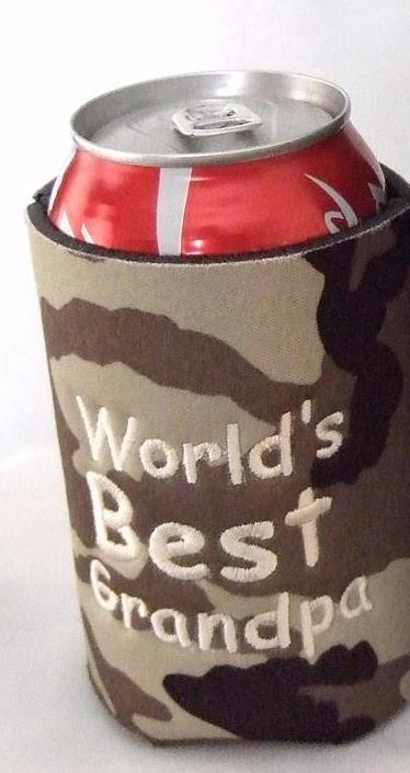 Personalized camo can koozie
