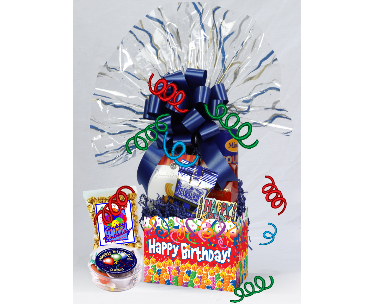 Happy Birthday Gift Box Wishes Basket