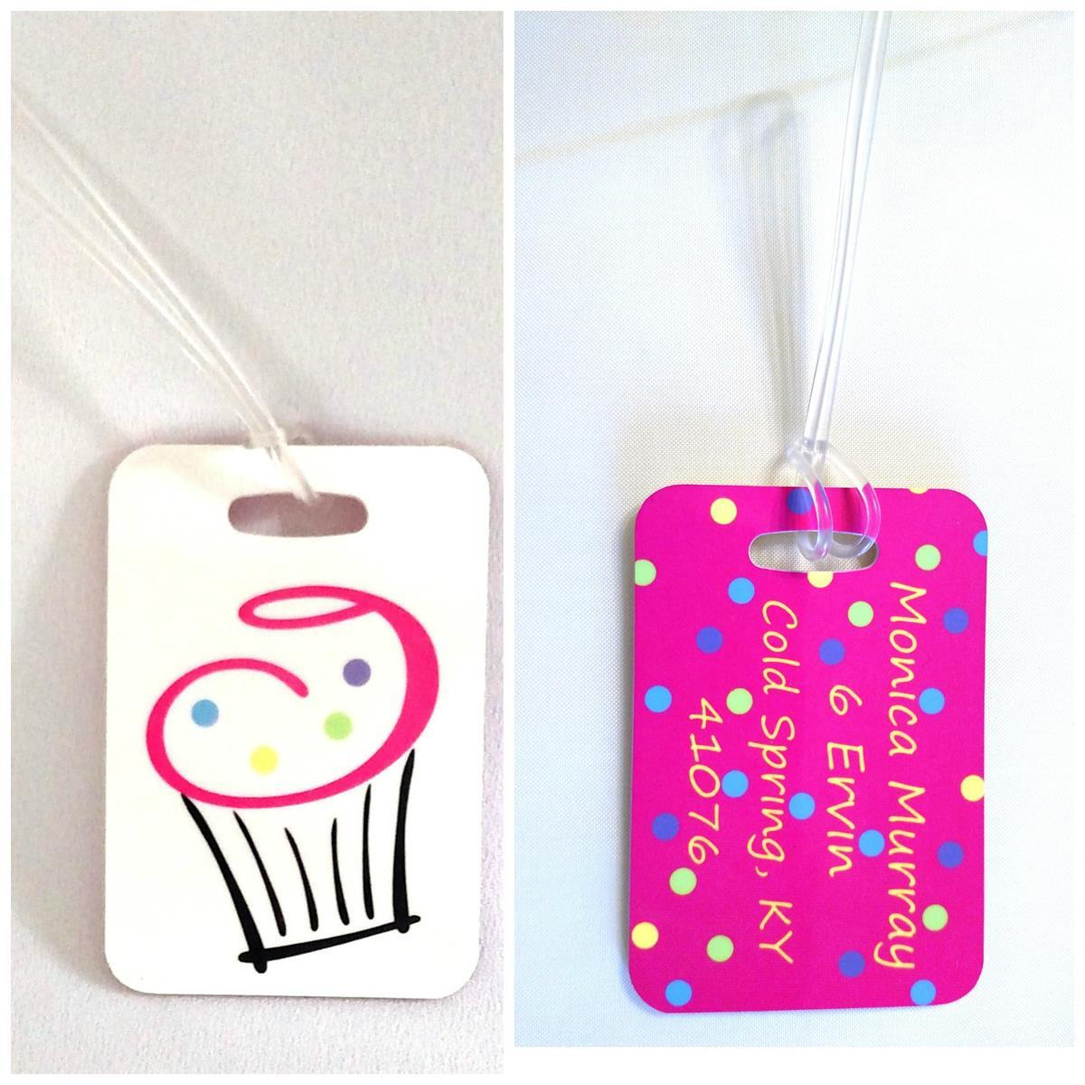 Personalized cupcake bag tag