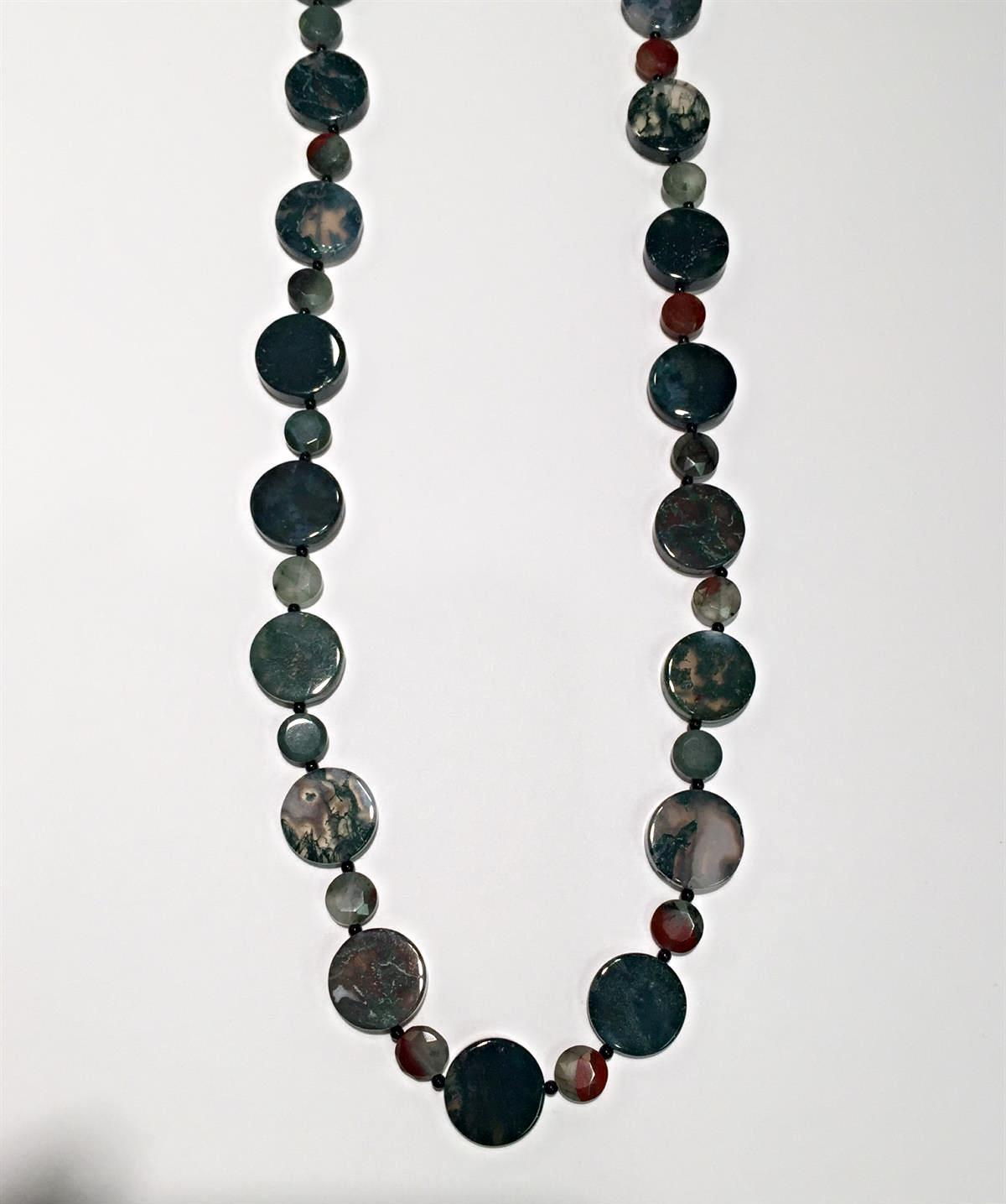 crystal vaults agate moss necklace