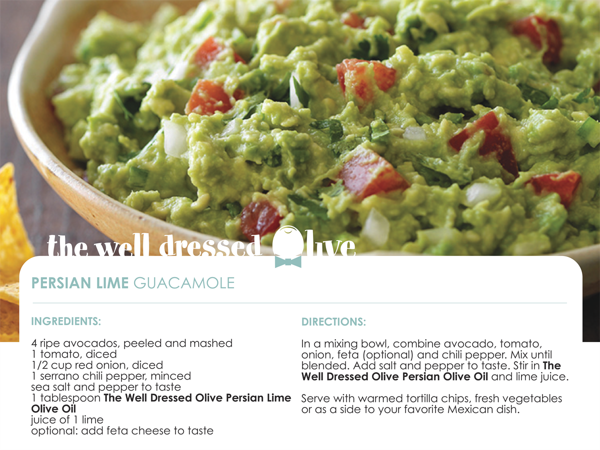 Persian lime guacamole the well dressed olive complete this recipe with the well dressed olives persian lime olive oil find persian lime olive oil here forumfinder Choice Image