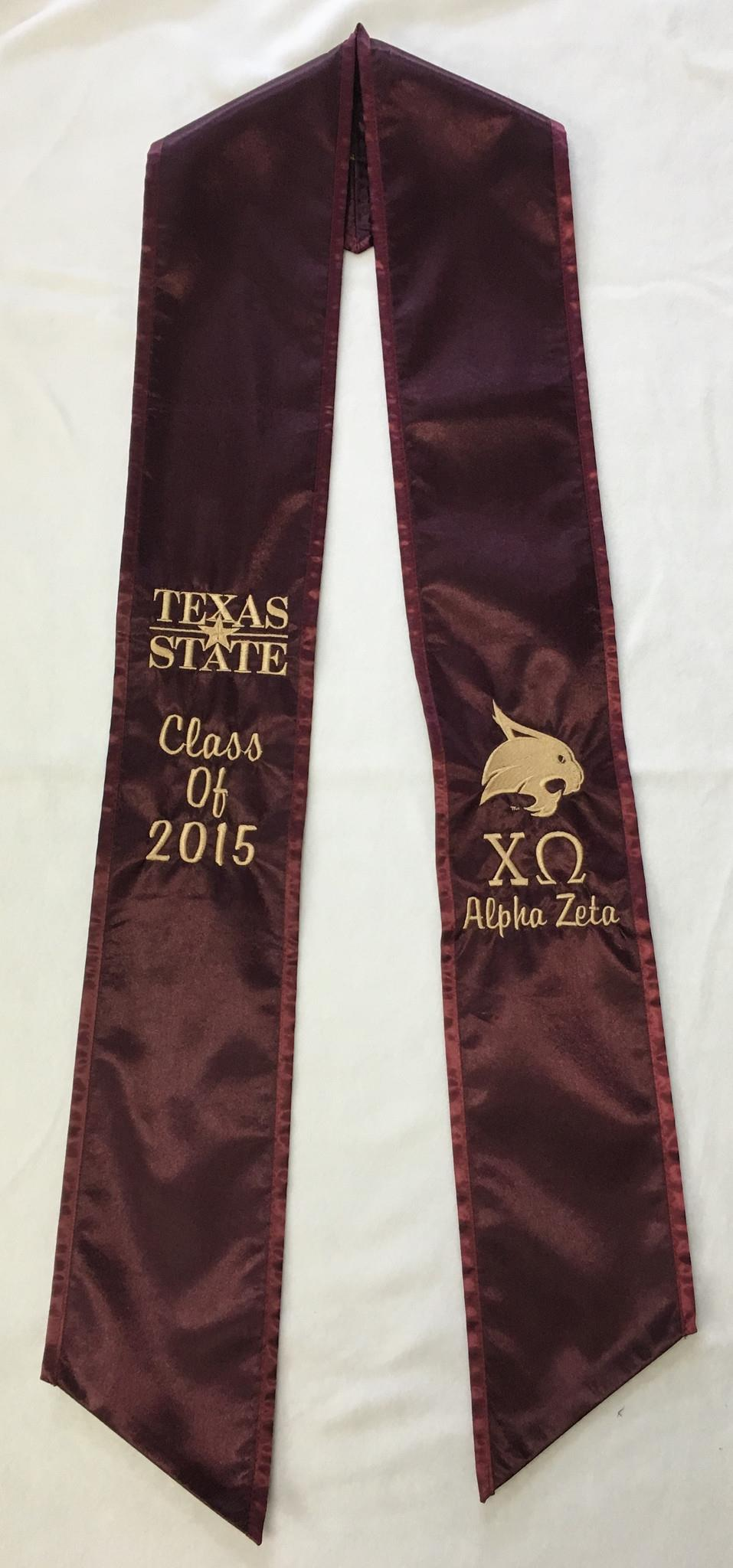 Chi Omega Graduation Stole | Creeds & Crests Inc