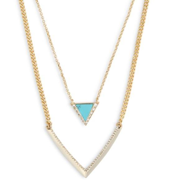 Triangle Double Necklace  #21987236082