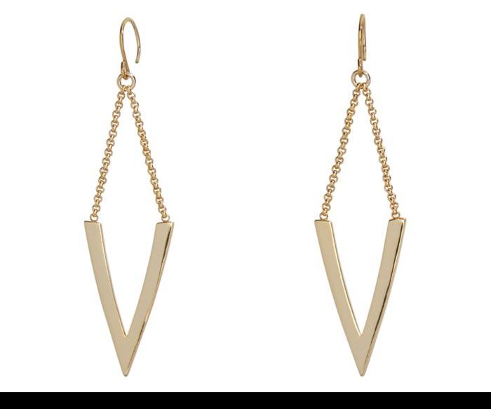 Triangle Large Drop Earrings  #21992236