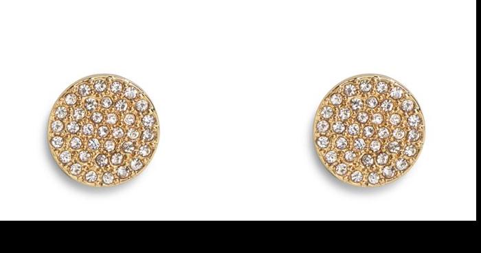 Pave Disk Stud Earrings #22402236958