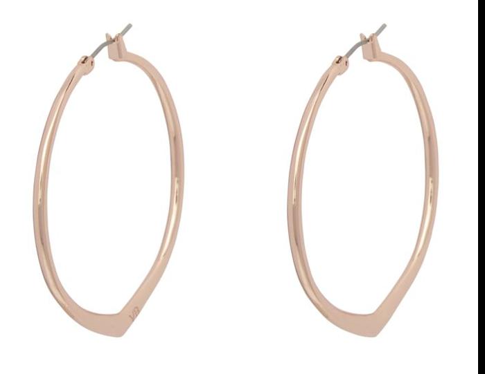 Large Triangle Hoop Earrings  #21995G34
