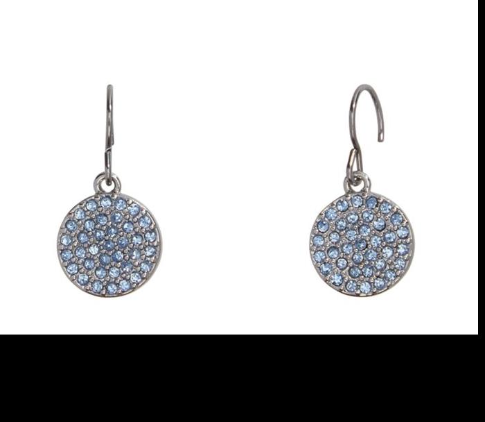 Pave Disc Drop Earrings  #22224237077
