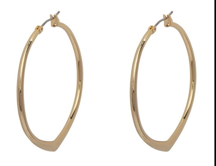 Large Triangle Hoop Earrings #21995236