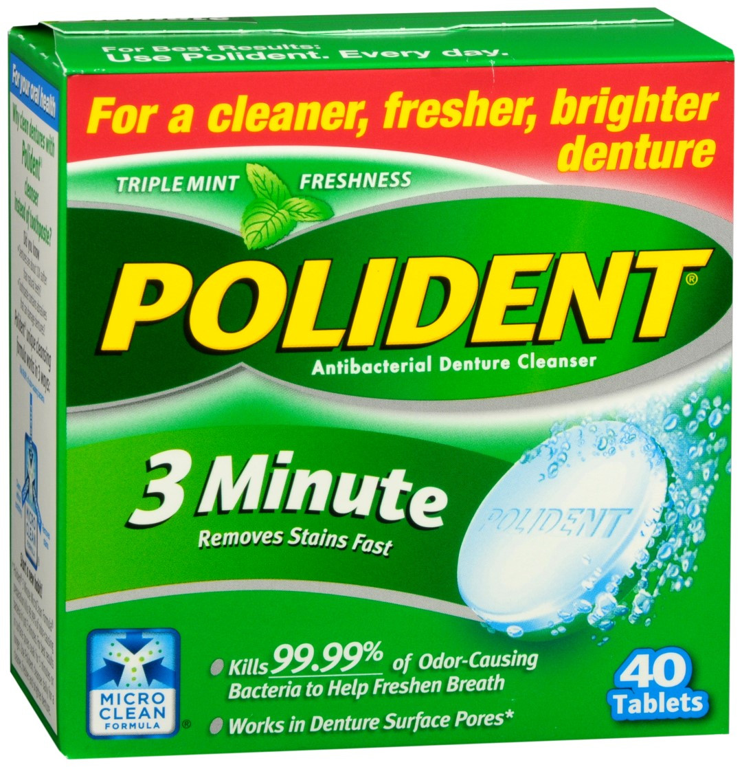 polident 3 minute antibacterial denture cleanser tablets asti s