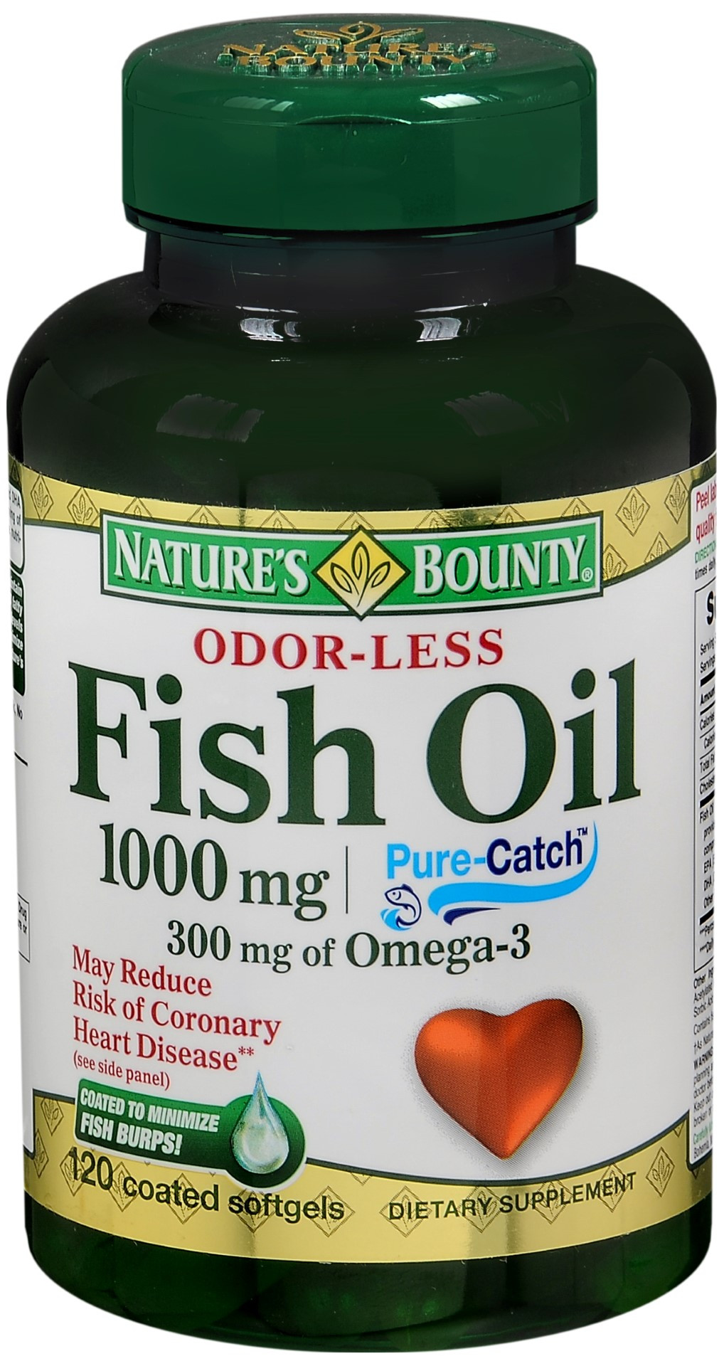 Nature's Bounty Odorless Fish Oil 1000 mg Coated Softgels | Asti's South  Hills Pharmacy