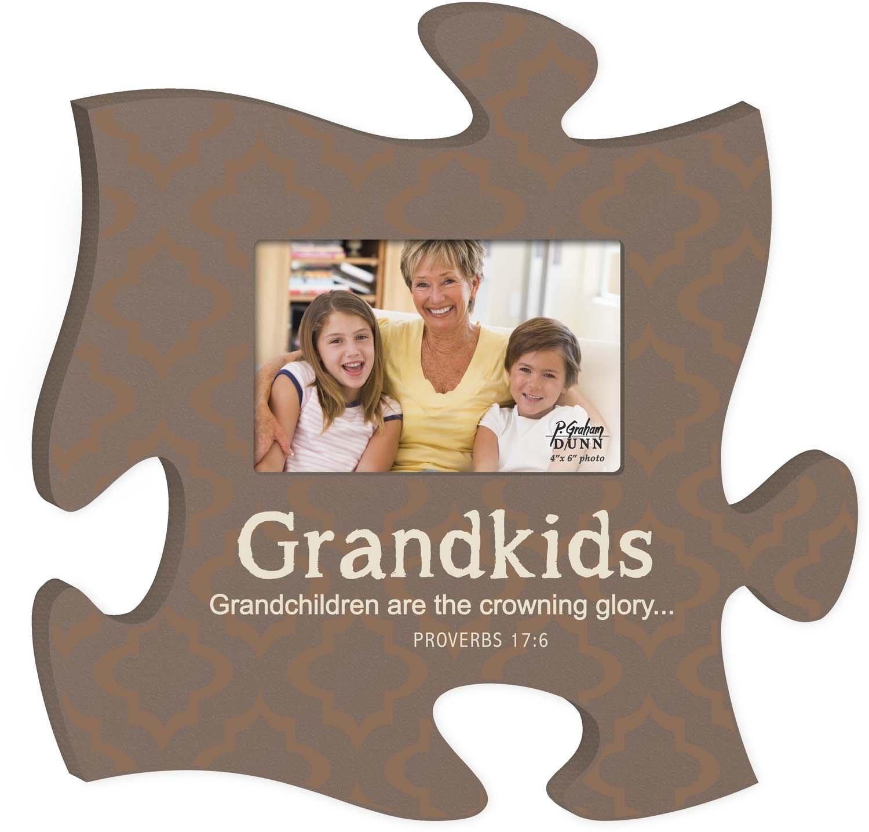 Grandkids Puzzle Piece Frame | Thomas Drug Store