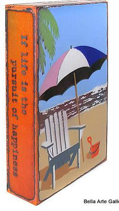 artist Houston Llew, Spiritiles, beach, enamel art, glass sculpture, life quotes, sandbox, USA made