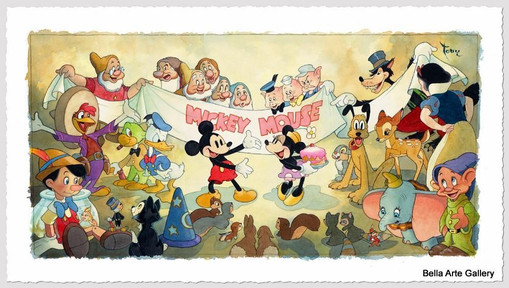 Happy Birthday,Toby Bluth disney artist, Mickey Mouse, Disney art,Minnie mouse, Disney characters, Mickey's birthday, birthda