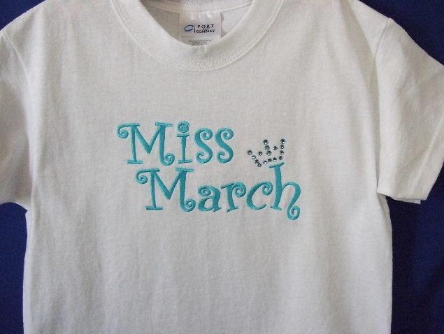 Miss month custom tee