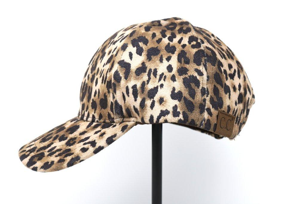 8f554f3b3 Leopard Print High Ponytail Cap