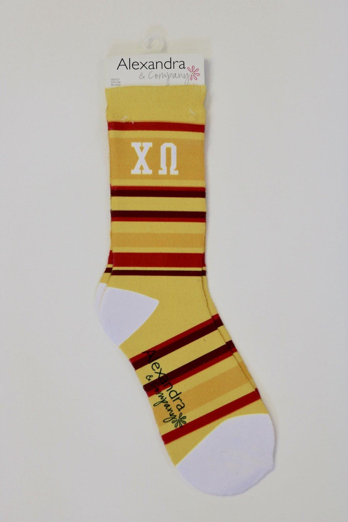 Chi Omega Socks   Creeds & Crests Inc