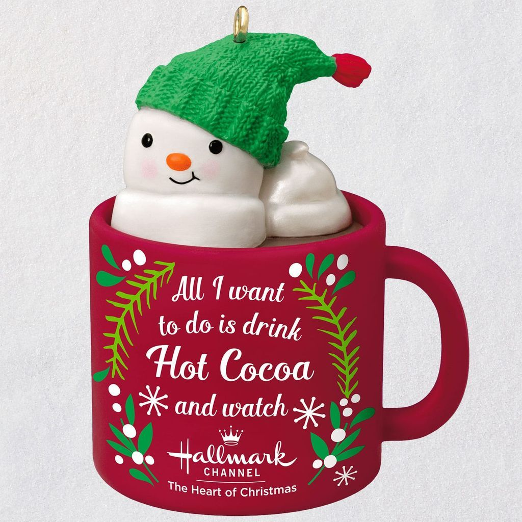 Hallmark Christmas In July Logo.I Love Hallmark Channel Snowman In Mug Ornament Available July 13 2019