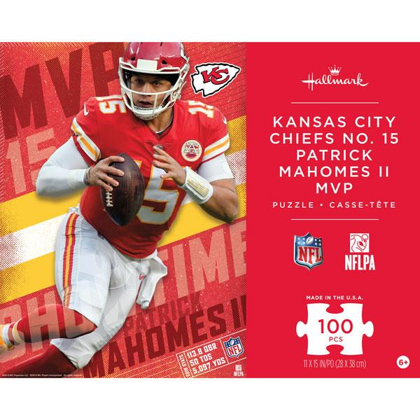 6064e59efb0 Kansas City Chiefs No. 15 Patrick Mahomes II MVP Kids Puzzle - 100 Pieces  Available In June